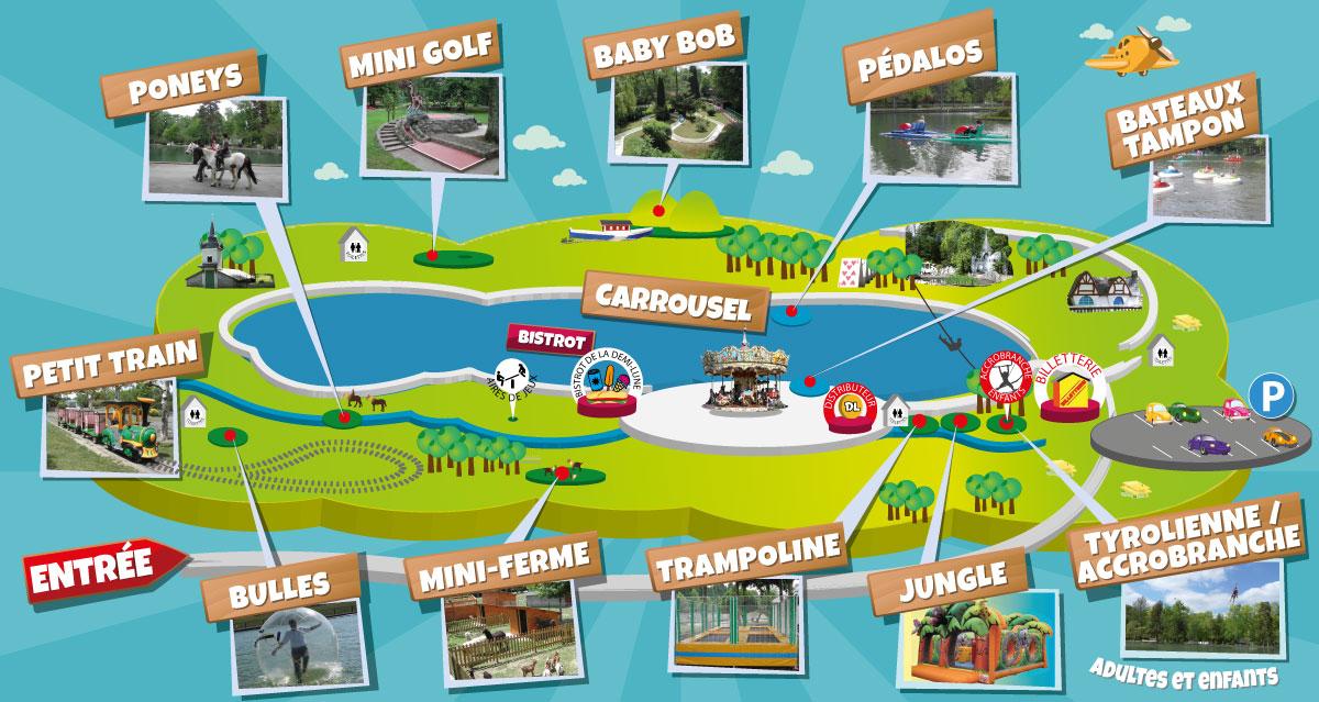 Plan | Parc de Loisirs de la Demi-Lune